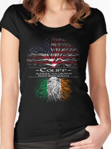 Califf - American Grown with Irish Roots Women's Fitted Scoop T-Shirt