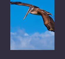 Ecuador. Galapagos Islands. Pelican in flight. Long Sleeve T-Shirt