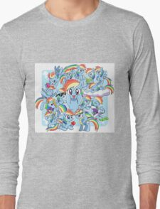 Every Rainbow Dash EVER Long Sleeve T-Shirt