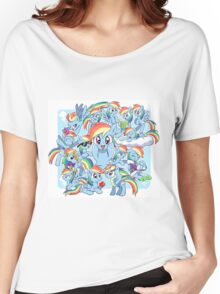 Every Rainbow Dash EVER Women's Relaxed Fit T-Shirt