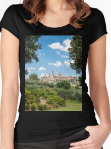 San Gimignano! Women's Fitted Scoop T-Shirt