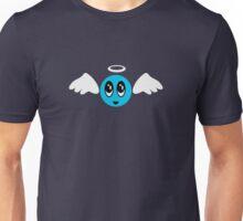 Angel Smiley (blue) VRS2 Unisex T-Shirt