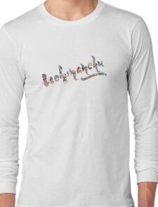 Uchinachu bingata calligraphy design Long Sleeve T-Shirt