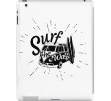 Surf the wave retro style iPad Case/Skin