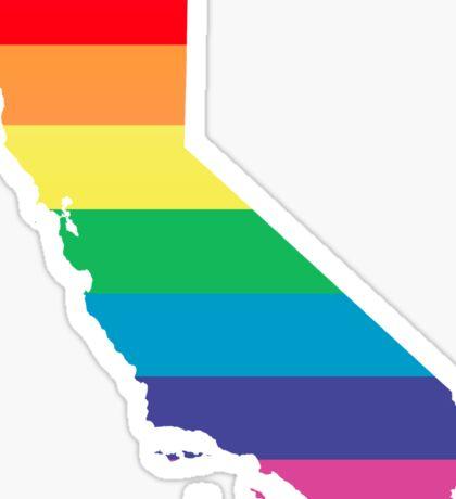 rainbow california Sticker