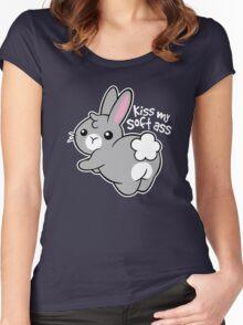 Bunny soft ass Women's Fitted Scoop T-Shirt