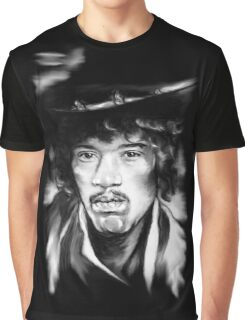 Jimmy in Black and White Graphic T-Shirt