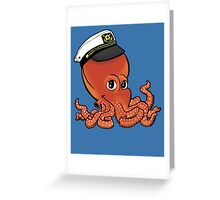 Captain Octopus Greeting Card