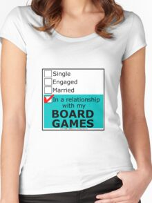 In A Relationship With My Board Games Women's Fitted Scoop T-Shirt