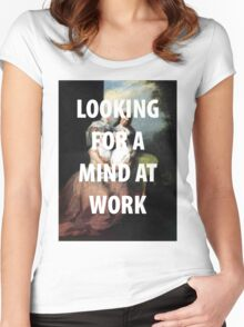A MIND AT WORK Women's Fitted Scoop T-Shirt