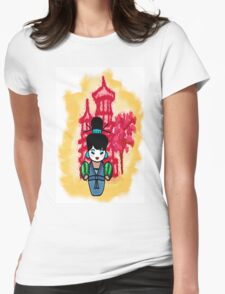 chien po momiji  Womens Fitted T-Shirt