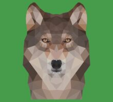 Geometric Wolf One Piece - Short Sleeve