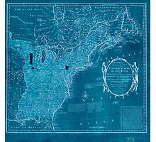 American Revolutionary War Era Maps 1750-1786 352 Bowles's new pocket map of the United States of America the British possessions of Canada Nova Scotia and Inverted Photographic Print