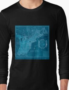 American Revolutionary War Era Maps 1750-1786 352 Bowles's new pocket map of the United States of America the British possessions of Canada Nova Scotia and Inverted Long Sleeve T-Shirt