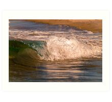 Wave crushing on the shore Art Print