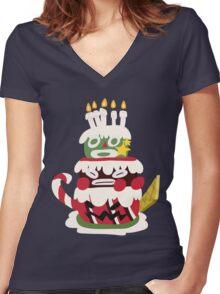 Bundt - SMRPG Cake Women's Fitted V-Neck T-Shirt