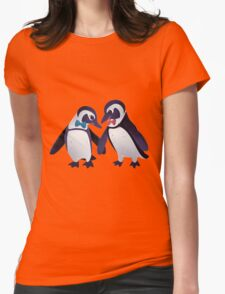Dapper Penguins Womens Fitted T-Shirt