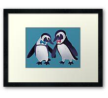 Dapper Penguins Framed Print