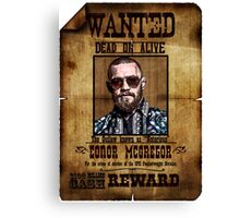 "Conor McGregor WANTED ""Notorious"" UFC MMA Canvas Print"