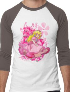 Flowery Princess Peach Men's Baseball ¾ T-Shirt