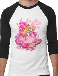 Flowery Princess Peach Men's Baseball ¾ T-Shirt