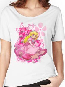 Flowery Princess Peach Women's Relaxed Fit T-Shirt