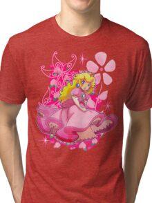 Flowery Princess Peach Tri-blend T-Shirt