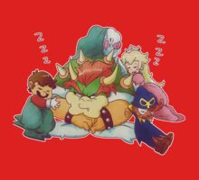 Bowser Mario Mallow Peach and Geno One Piece - Long Sleeve