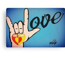 Love Sign Language Art Canvas Print