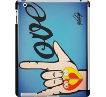 Love Sign Language Art iPad Case/Skin