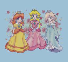 Princess Peach, Daisy and Rosalina Kids Tee