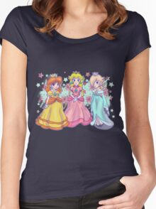 Princess Peach, Daisy and Rosalina Women's Fitted Scoop T-Shirt