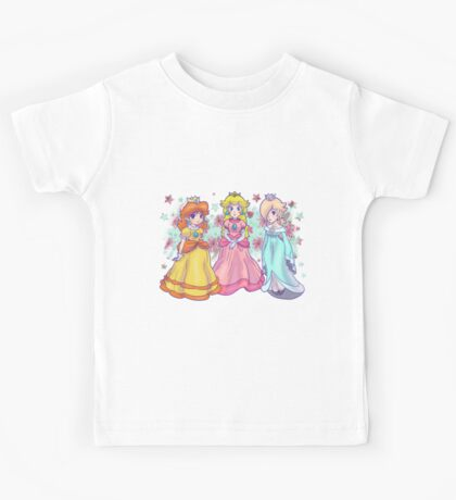 Princess Peach, Daisy and Rosalina Kids Tee