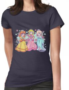 Princess Peach, Daisy and Rosalina Womens Fitted T-Shirt