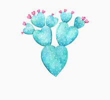 Watercolor cactus with hearts Long Sleeve T-Shirt