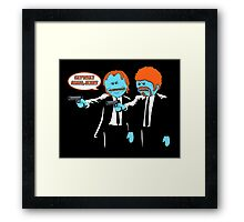 Mr. Meeseeks - Pulp Fiction parody Framed Print