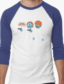 Mr. Meeseeks - Pulp Fiction parody Men's Baseball ¾ T-Shirt