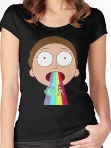 Morty  Rainbow Women's Fitted Scoop T-Shirt