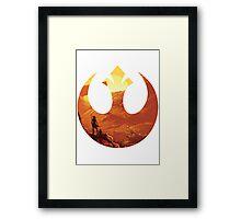 Star Wars VII - BB8 & Rey Framed Print