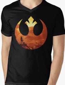 Star Wars VII - BB8 & Rey Mens V-Neck T-Shirt