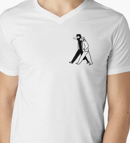 Simple Jotaro and Kakyoin Mens V-Neck T-Shirt