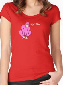 Pink Guy ey b0ss Women's Fitted Scoop T-Shirt