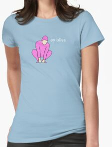 Pink Guy ey b0ss Womens Fitted T-Shirt