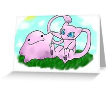 mew and ditto Greeting Card