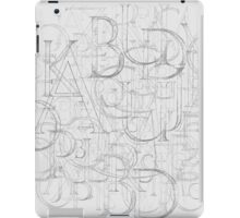 Antique Alphabet in Round iPad Case/Skin