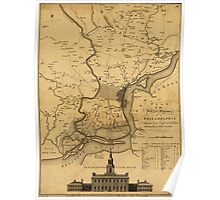 American Revolutionary War Era Maps 1750-1786 218 A plan of the city and environs of Philadelphia 2 Poster