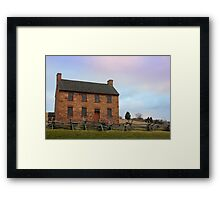 Stone House, Winter Morning Framed Print