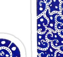 J Harmonic Letter Sticker