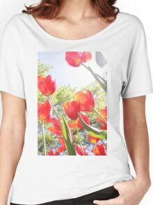 Red Tulips Photo Women's Relaxed Fit T-Shirt