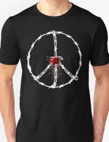 barbed wired peace with blood T-Shirt